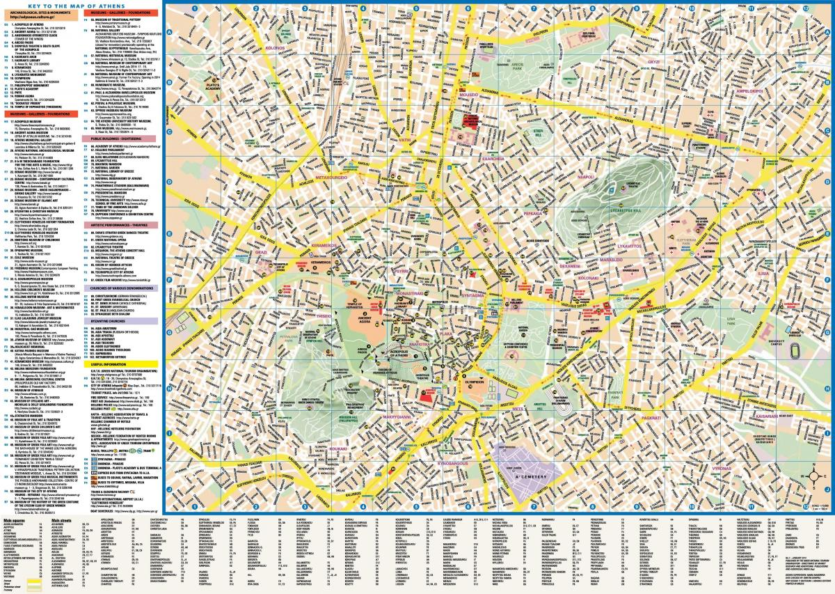 Athens streets map